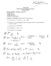 Solution assignment III