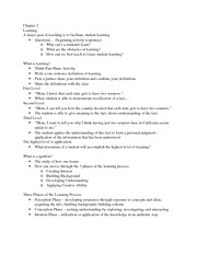 Notes for Chapter Two Strategies and Techniques