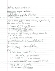 CHM 115 Metal Notes