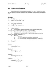 Calculus II Notes 8.5