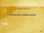 Chapter 03- Financial Statements