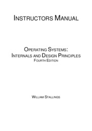 Operating Systems Stallings 4ed solutions manual