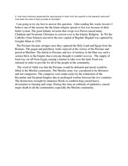 Rapid spread of islam essay