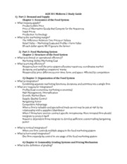 AGB 301 MT 2 Study Guide OPT