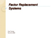 FactorReplacementSystems