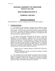 2012 Part A Company Law - Corporate Governance (1)