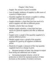 Economics Chapter 5 Key Terms - Chapter 5 Key Terms 1 2 3 4 ...