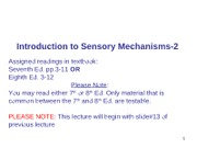 WEB Session 3 Introduction to Sensory  Mechanisms-2