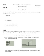 Act6 - Measures of Spread