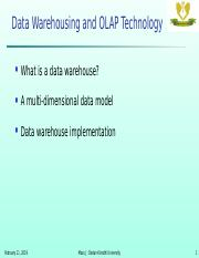 Data warehousing sample questions with solutions docx - Data