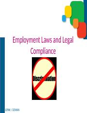 3) Employment Laws and Legal Compliance.pptx