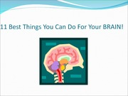 10 Best Things You Can Do For Your Brain