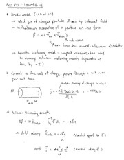 PHYS 541 Drude Model Notes