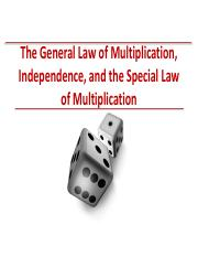 L6-S13-General Law of Multiplication - Independence - Special Law of Multiplication.pdf