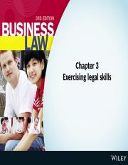 Week 3.text.ch 3.Exercising Legal Skills.ppt