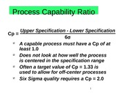 Process Capability Ratio