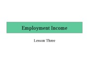 Employment Income, Lesson 3