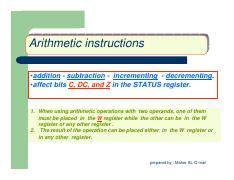 2.3 arithmetic  instructions1