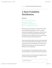 4. Basic Probability Distributions — R Tutorial