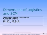 Ch10 Logistics and SCMA