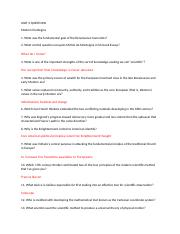 HUMA - UNIT 3 QUESTIONS.docx
