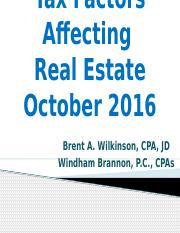 Real Estate Presentation BAW_Oct 2016