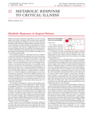 22 Metabolic Response to Critical Illness