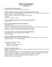 CHEM 101 – General Chemistry I Chapter 7 Reading Assignment Pages 210-235