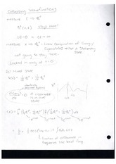 Class Note Collapsing Wavefunctions