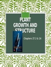 BIOL1510_FA18_CH27.3 &  24_Plant Growth and Structure_PPT.pptx