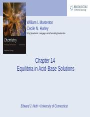 Chapter 14 - Equilibria in Acid-Base Solutions.ppt