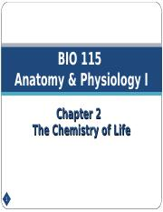 Chapter 2 - The Chemistry of Life.ppt