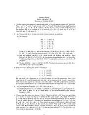 MATH 346 Problem Set 3 Solutions
