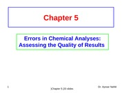Chapter 5 (Errors in Chemical Analyses)