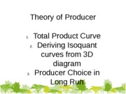 Theory of Producer 08-10-2011  with answer