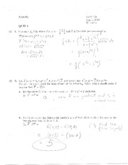Quiz 5 Solution on Calculus
