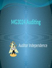 MG3024 Auditing Lecture 3 Auditor Independence.pptx