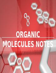 Organic Molecules Notes