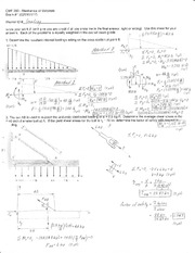 Exam 1 Solution Spring 2012 on Mechanics of Materials