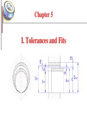Chapter 4.1 Tolerances and Fits