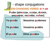 boot shape conjugations o ue