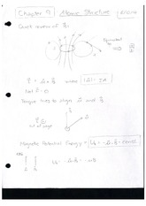 Class Notes Atomic Structures