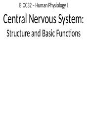 3 - Central Nervous System - Structure and Basic Functions.pptx