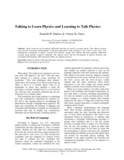 Talking_to_Learn_Physics_and_Learning_to_Talk_Physics