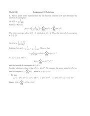 problem set 10 with solutions
