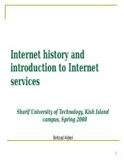 Introduction to Internet and WWW