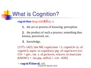 Intro to Cognition Part 2