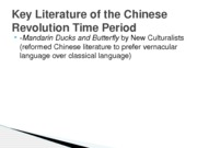 Key Literature of the Chinese Revolution Time Period