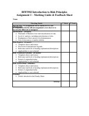 Assignment 1 Marking Guide