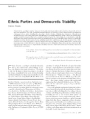Ethnic Parties and Democratic Stability